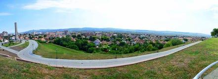 Panorama over Alba Iulia town Stock Photo
