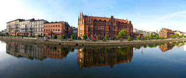 Panorama over the Brda in Bydgoszcz Stock Image