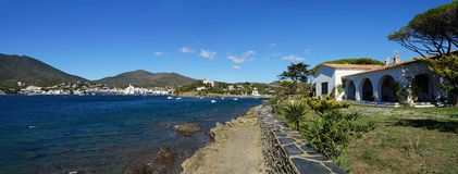 Panorama over Cadaques bay Stock Photo