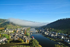 Panorama over Cochem city in the morning. Germany Royalty Free Stock Image