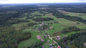 Panorama over countryside. Video of panorama over countryside stock footage