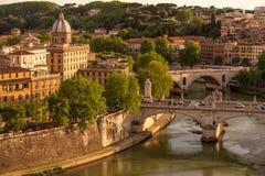 Panorama over het historische centrum van Rome, Italië Stock Afbeelding