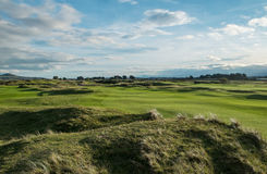 Panorama over links course Royalty Free Stock Photos