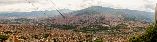 Panorama over Medellin, Colombia. Pablo Escobar stock images
