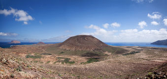 Panorama over the north of La Graciosa Royalty Free Stock Images