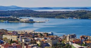 Panorama of Sibenik Stock Photography