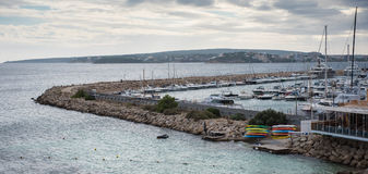 Panorama over the port of Portals Nous, Mallorca.  Stock Image