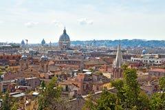 Panorama over Rome, Italië. Stock Foto