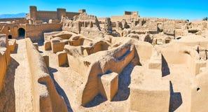 Housing in ancient Rayen fortress, Iran stock photos