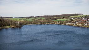 Panorama over Sauerland-meer in Duitsland royalty-vrije stock fotografie