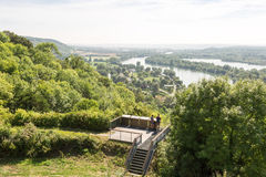 Panorama over seine in Normandie, France Royalty Free Stock Photo
