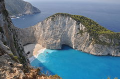 A panorama over Shipwreck Bay, Zante Stock Photo