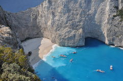 A panorama over Shipwreck Bay, Zante Royalty Free Stock Image