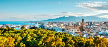 Free Panorama Over The Malaga City And Port Stock Images - 116274594