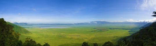 Panorama overlooking Ngorongoro crater, Tanzania Stock Image