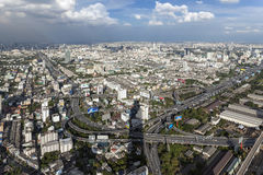Panorama and overview of Bangkok Stock Photo