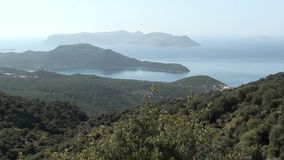 Panorama overzees eilandenbos stock video