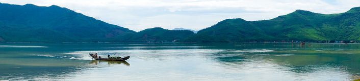 Panorama Overzeese mening Vietnam Stock Foto's