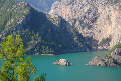 Panorama Oymapinar dam reservoir on the river Manavgat Stock Images