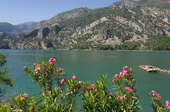 Panorama Oymapinar dam reservoir on the river Manavgat Royalty Free Stock Image