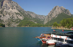 Panorama Oymapinar dam reservoir on the river Manavgat Stock Photo
