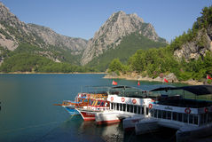 Panorama Oymapinar dam reservoir on the river Manavgat Royalty Free Stock Photo