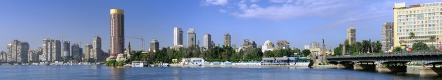 Panorama på Kairo Royaltyfria Foton