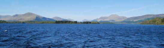 Panorama på Loch Lomond Arkivbild