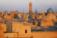 Panorama på tillflyktfästningen i Bukhara Royaltyfria Foton
