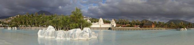 Panorama Pływacki basen w Siam parku obrazy stock