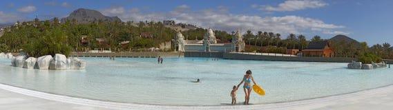 Panorama Pływacki basen w Siam parku zdjęcie royalty free
