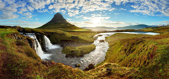Panorama - paesaggio dell'Islanda Immagini Stock Libere da Diritti