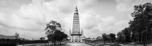 Panorama of pagoda at Mahatad Vachiramongkol Temple, Krabi, Thailand Stock Images