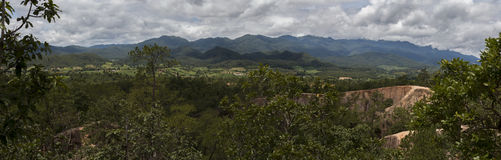 Panorama pai canyon. Panorama of Pai Canyon in Thailand Stock Photo