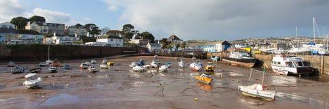 Panorama Paignton-Hafen Devon Englands Großbritannien Lizenzfreie Stockfotos