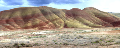 Panorama of painted hills in Oregon Stock Images