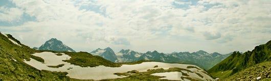 Panorama Paisagem da montanha Fotos de Stock Royalty Free