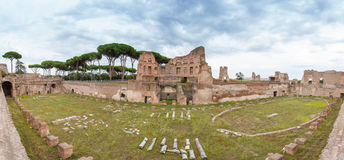 Panorama Palace of Domitian Royalty Free Stock Photos