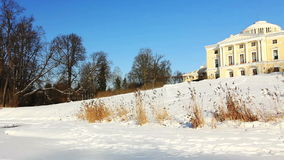 Panorama of a Palace on a hill in Pavlovsk Royalty Free Stock Photos