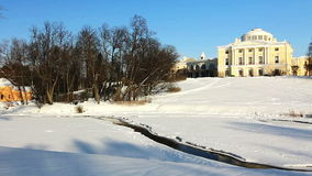 Panorama of Palace on a hill in Pavlovsk Stock Image