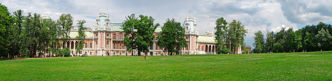 Panorama: Palace of the Russian Empress Catherine II in Moscow Royalty Free Stock Photography