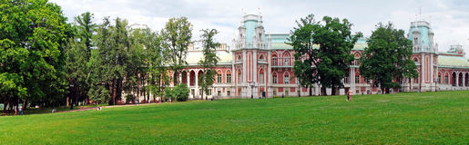 Panorama: Palace of the Russian Empress Catherine II in Moscow Royalty Free Stock Images