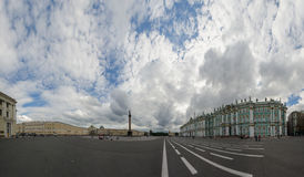 Panorama of Palace Square, Saint Petersburg, Russia Stock Photo