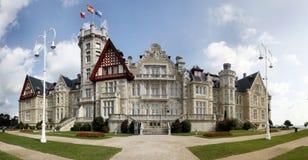 Panorama Palacio de la Magdalena Arkivfoto