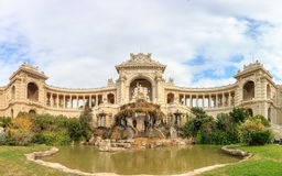Panorama of Palais Longchamp in Marseille. France stock image