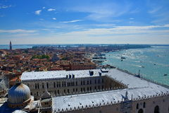Panorama, Palazzo Ducate, Old Buildings, Venice, Venezia, Italy Stock Photo