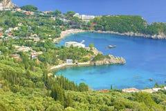 Panorama of Paleokastritsa, Corfu Stock Image