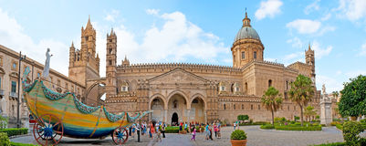 Panorama of Palermo Cathedral Stock Photos