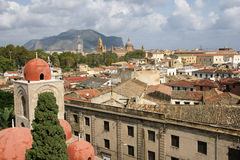 Panorama Palermo. Panorama of the city of Palermo in Sicily in autumn Stock Photos