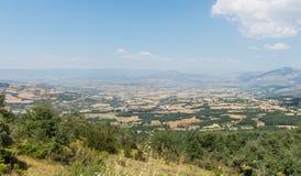 Panorama of the Pallars Sobirà region, Catalan pre-Pyrenees, Catalonia, Spain. General panoramic of the Pallars Sobirà region, from the peak of Comiols royalty free stock images